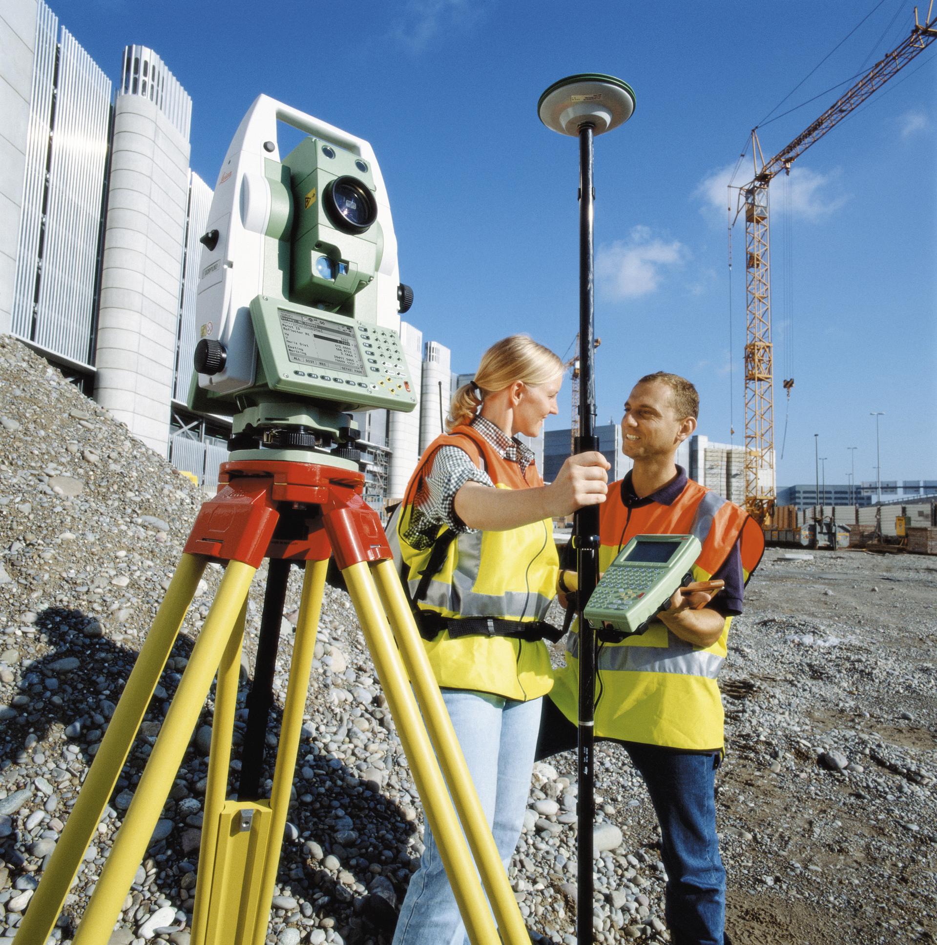 Настоящее геодезическое оборудование для профессиональных работ