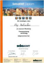 Диплом об обучении в компании sebakmt сотрудника ГЕО-НДТ