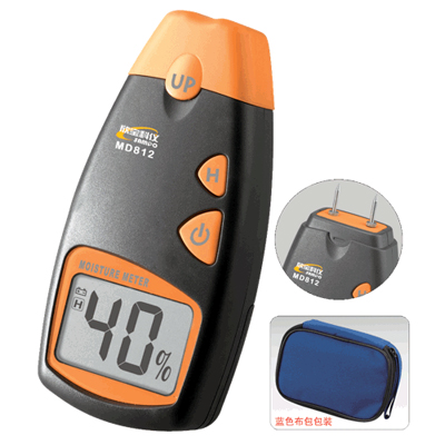 Md-812 lcd display digital wood moisture meter for wood, sheetrock, carpets